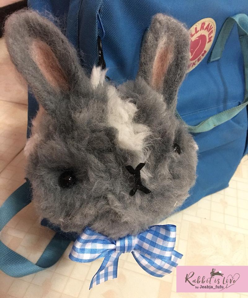 Giant Fluffy POM PO Rabbit