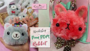 รูป workshop Fluffy Pom Pom Rabbit by Jeabja Fufu