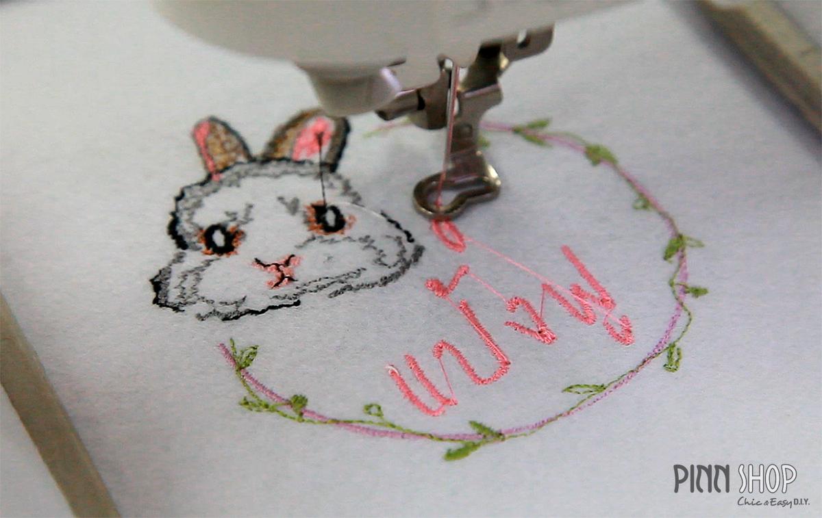 รูปปักลายแป้งฟู Rabbit is Love by Jeabja Fufu