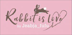 โลโก้ Rabbit is Love by Jeabja Fufu