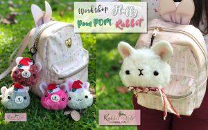 ตุ๊กตาไหมพรม Krea จากเทคนิค POM POM ตกแต่งเป็นกระต่าย by Jeabja Fufu