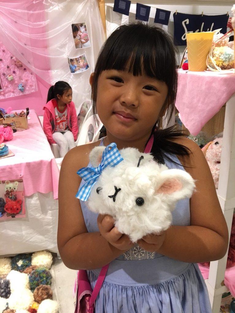 workshop Giant Fluffy POM POM Rabbit