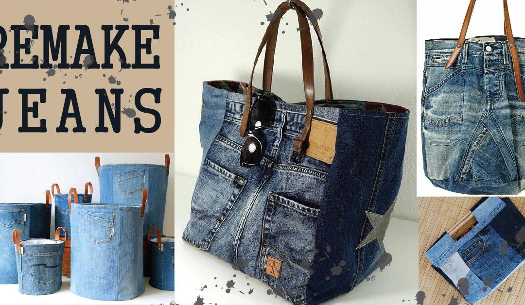 กางเกงน่ะเก่า แต่กระเป๋าน่ะใหม่ ยังไง? ยีนส์ยิ่งเก่า จับมารีเมคเป็นกระเป๋ายังไงก็สวย