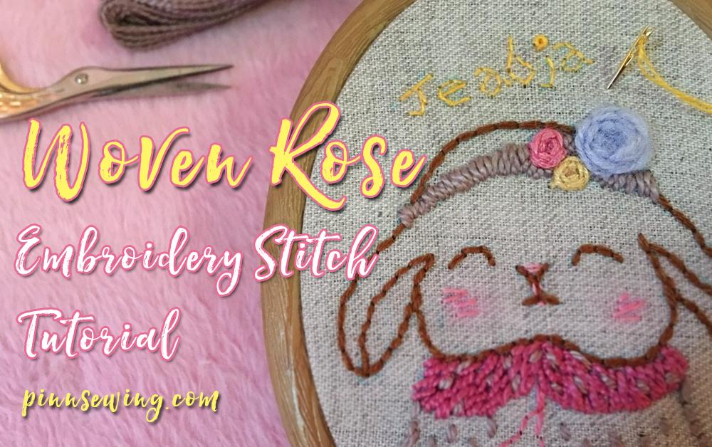 วิธีปักมือดอกกุหลาบ Woven Rose