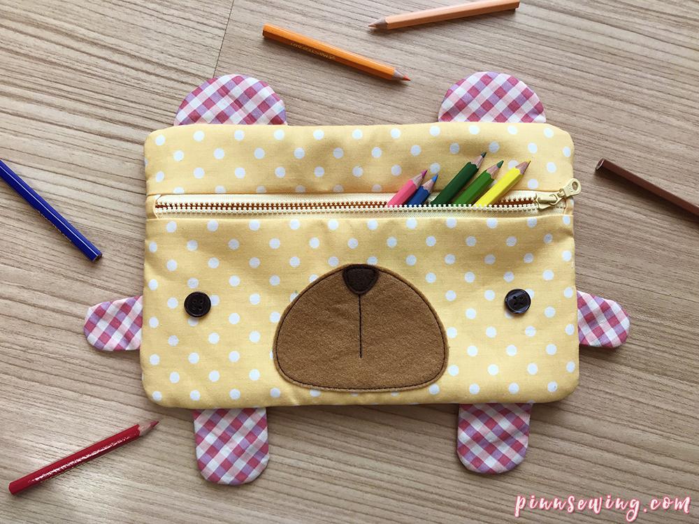 วิธีทำกระเป๋าดินสอน้องหมี