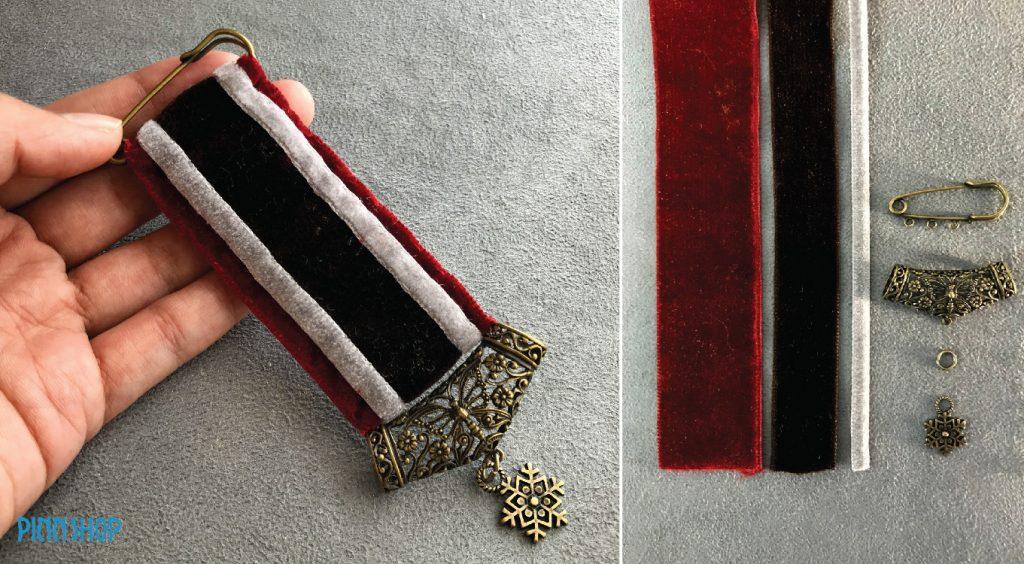 ทำเข็มกลัดประดับยศ เข็มกลัดวินเทจ เข็มกลัดติดยศ Medal Brooch ด้วย MOMOTARA ริบบิ้นโมโมทาร่า