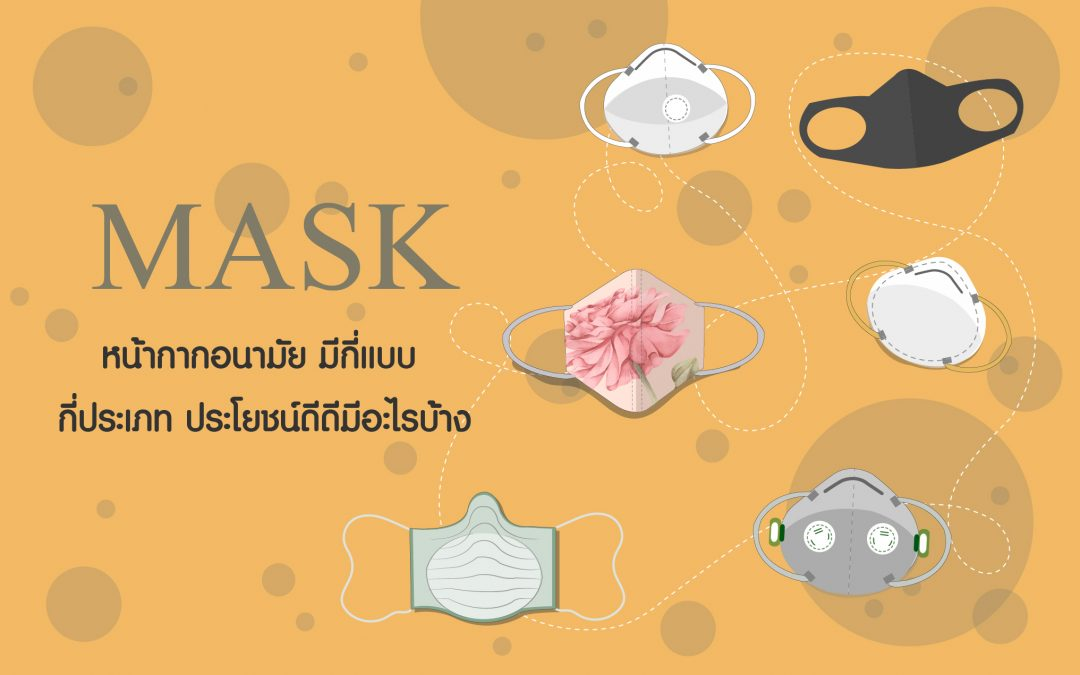 หน้ากากอนามัย(Mask)มีกี่แบบ กี่ประเภท ประโยชน์ดีดีมีอะไรบ้าง