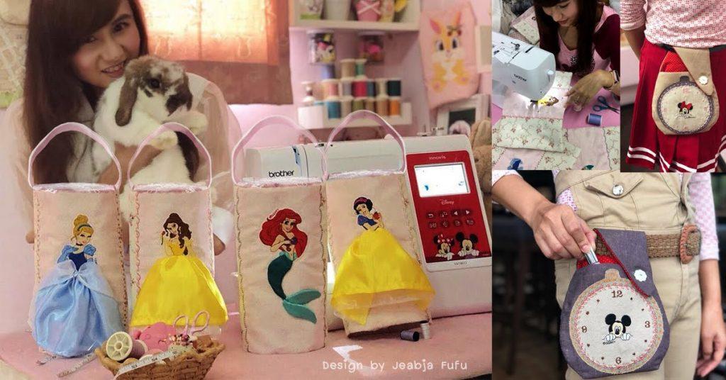 Jeabja Fufu Profile งานเย็บกระเป๋า Disney Princess Mickey Minnie
