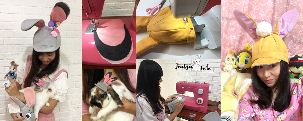 Jeabja Fufu Profile งานเย็บหมวกกระต่าย Disney judy hopps Zpptopia Miss Bunny