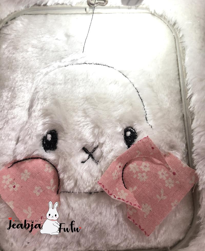 สอนปักผ้าขน Fufu the Rabbit by Jeabja fufu